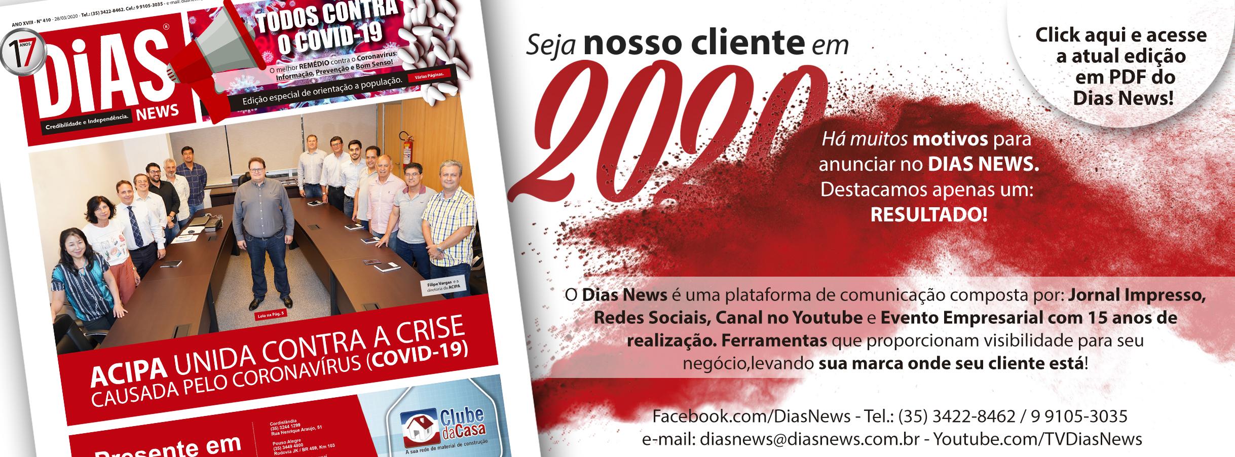 CLICK AQUI e acesse a edição 410 do Dias News